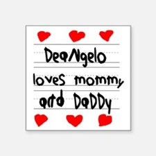 """Deangelo Loves Mommy and Da Square Sticker 3"""" x 3"""""""