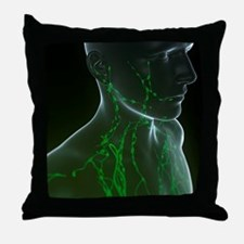 Lymphatic system, artwork Throw Pillow