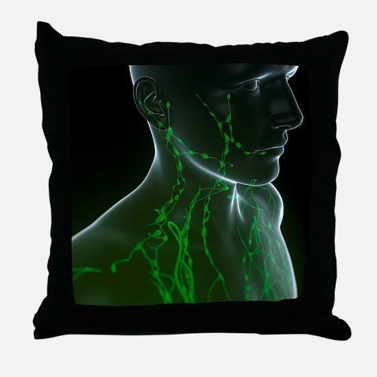 Lymphatic system, artwork Throw Pillow