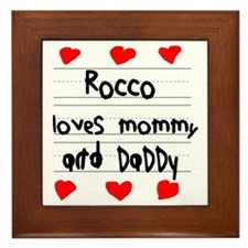 Rocco Loves Mommy and Daddy Framed Tile