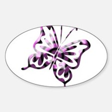 Purple and Black Retro Butter Oval Decal