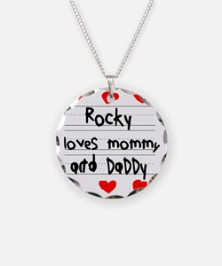 Rocky Loves Mommy and Daddy Necklace