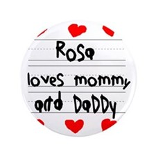 """Rosa Loves Mommy and Daddy 3.5"""" Button"""