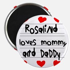 Rosalind Loves Mommy and Daddy Magnet