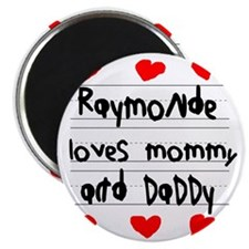 Raymonde Loves Mommy and Daddy Magnet