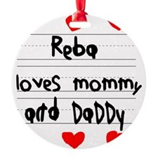 Reba Loves Mommy and Daddy Ornament