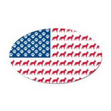Shepard-Flag-No-Whhite- Oval Car Magnet