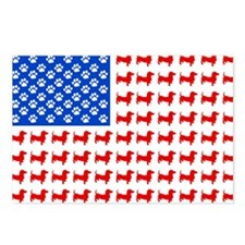 Dachshund USA - Patriotic Postcards (Package of 8)