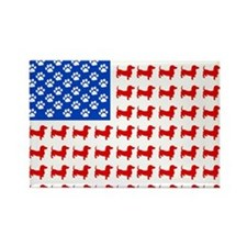 Dachshund USA - Patriotic Flag Rectangle Magnet
