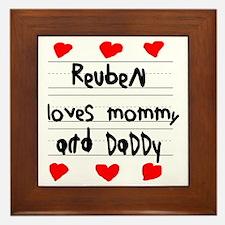 Reuben Loves Mommy and Daddy Framed Tile