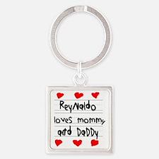 Reynaldo Loves Mommy and Daddy Square Keychain
