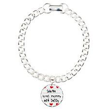 Selena Loves Mommy and D Bracelet