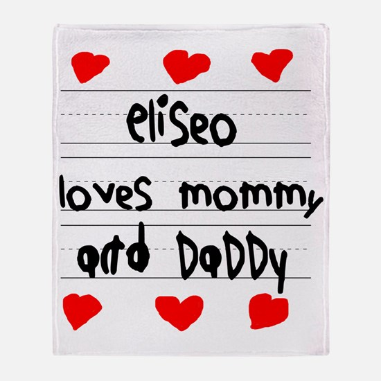 Eliseo Loves Mommy and Daddy Throw Blanket