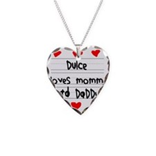 Dulce Loves Mommy and Daddy Necklace