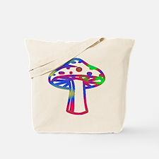 Rainbow Retro Shroomz Tote Bag