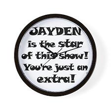 Jayden is the star Wall Clock