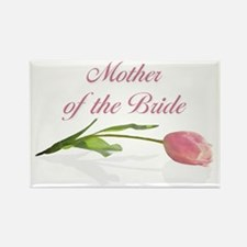 Pink Tulip Mother of Bride Rectangle Magnet