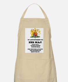 BY APPOINTMENT - PARODY, HER MAJ! Apron