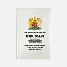 BY APPOINTMENT - PARODY, HER MAJ! Rectangle Magnet