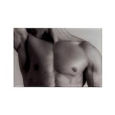 Man's upper body Rectangle Magnet