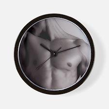 Man's upper body Wall Clock