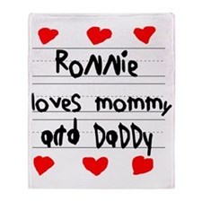 Ronnie Loves Mommy and Daddy Throw Blanket