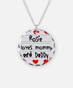 Rosie Loves Mommy and Daddy Necklace