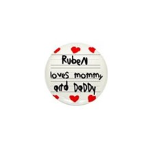 Ruben Loves Mommy and Daddy Mini Button
