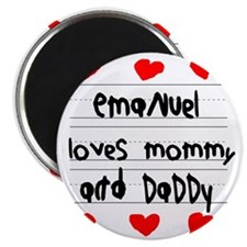 Emanuel Loves Mommy and Daddy Magnet