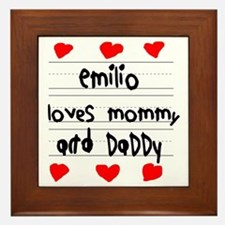 Emilio Loves Mommy and Daddy Framed Tile