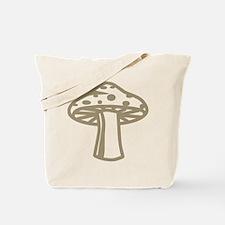 Tan Mushroom Tote Bag