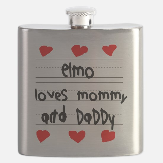 Elmo Loves Mommy and Daddy Flask