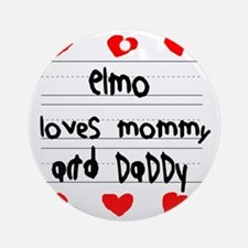 Elmo Loves Mommy and Daddy Round Ornament