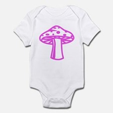 Hot Pink Mushroom Infant Bodysuit