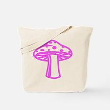 Hot Pink Mushroom Tote Bag