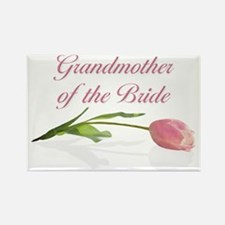 Pink Tulip Grandmother of Bride Rectangle Magnet