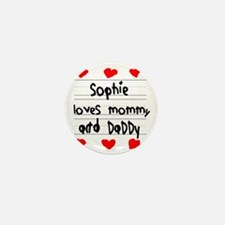 Sophie Loves Mommy and Daddy Mini Button