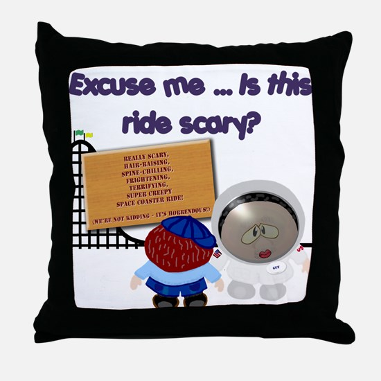 Scary Ride Throw Pillow