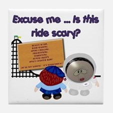 Scary Ride Tile Coaster