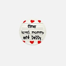 Elmer Loves Mommy and Daddy Mini Button