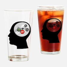 AFC/HUB Gearhead Logo Drinking Glass