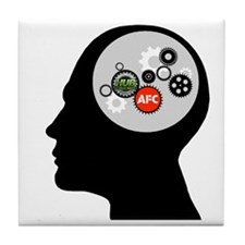 AFC/HUB Gearhead Logo Tile Coaster