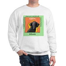 Winnie Black Lab Dog Angel Sweatshirt