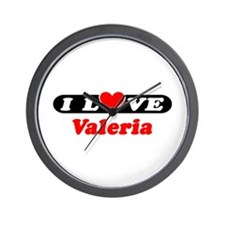 I Love Valeria Wall Clock