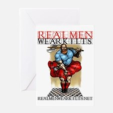 KILTED DUDE A LA MONROE Greeting Card