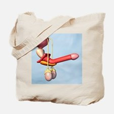 Male reproductive system Tote Bag