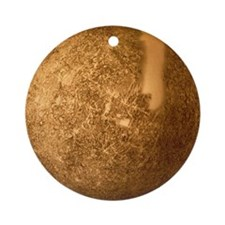 Mariner 10 mosaic of Mercury Round Ornament