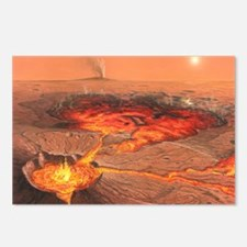Martian volcanos Postcards (Package of 8)