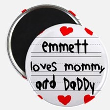 Emmett Loves Mommy and Daddy Magnet