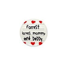 Forrest Loves Mommy and Daddy Mini Button